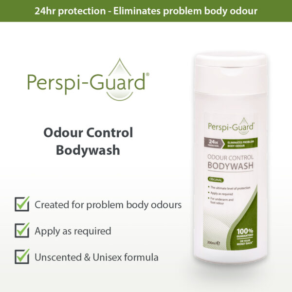 Perspi-Guard Bodywash Odour Control Shower Gel on Antiperspirant & Deodorant Company UK